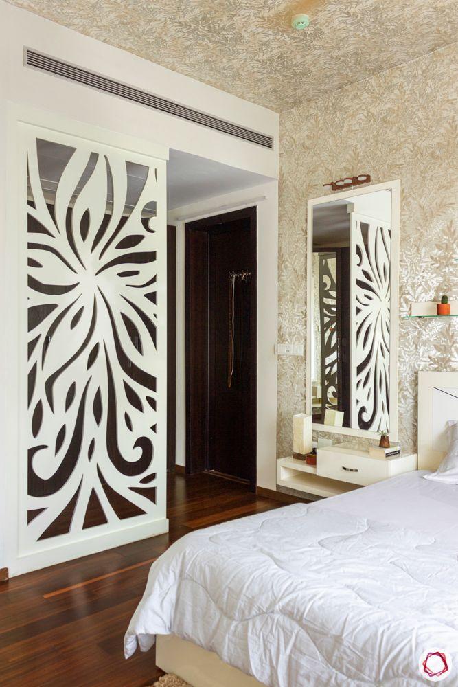 prestige-white-meadows-bedroom-jaali-wardrobe-dark-laminate