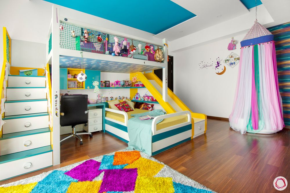prestige-white-meadows-kids-bedroom-stairs-colourful-princess-bed