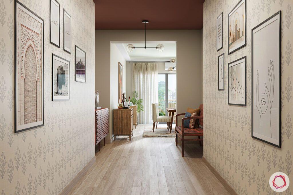 masaba gupta-foyer-wall motifs-artwork-wooden flooring