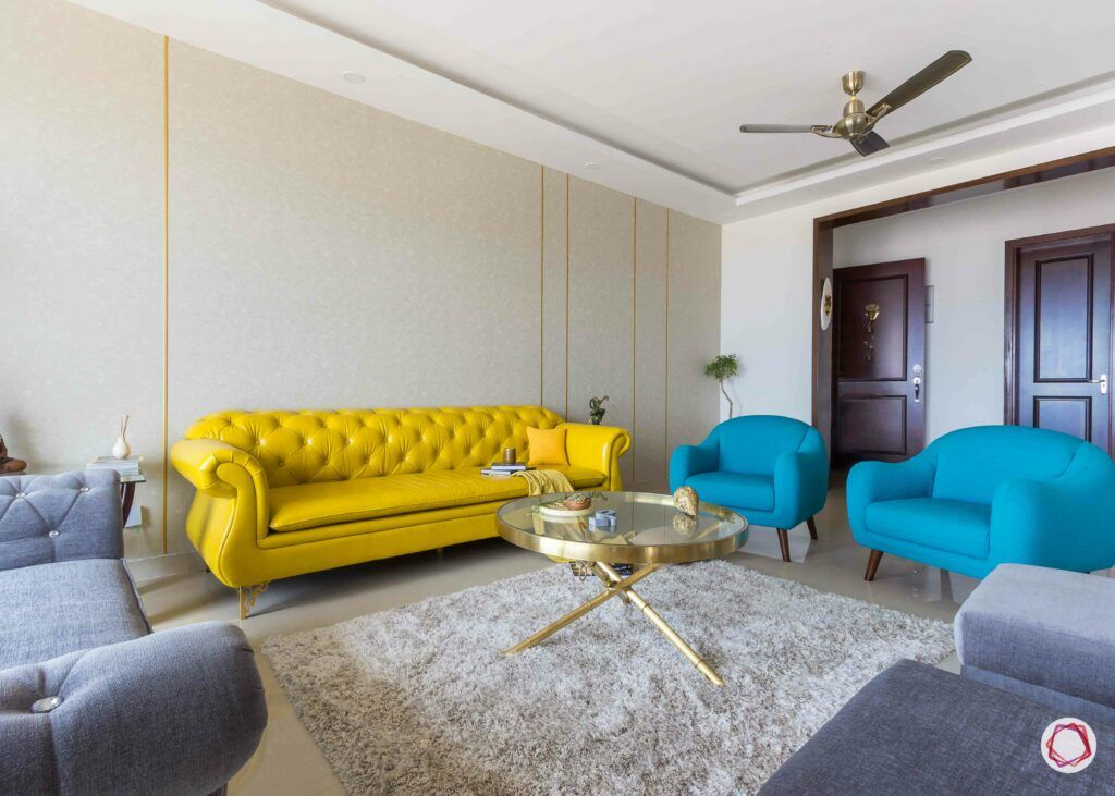 sofa colour-yellow sofa designs-yellow leather sofa