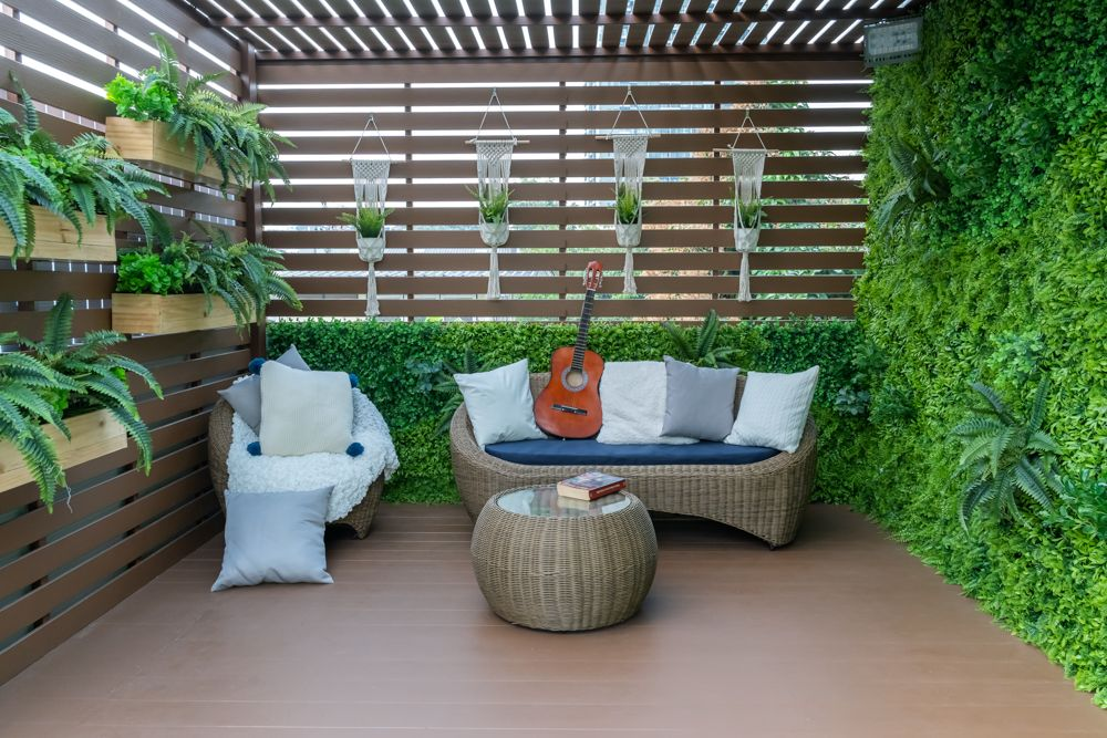 balcony grill design-wooden panel designs-vertical garden designs
