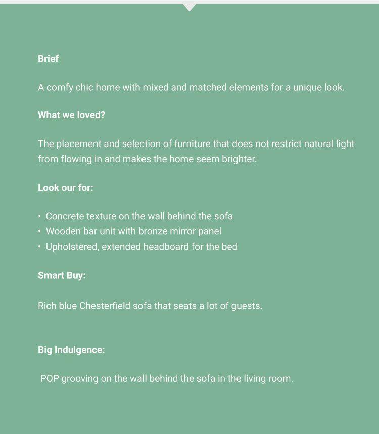 Interior Design for 2BHK Flat in Mumbai-Infobox-Client Brief