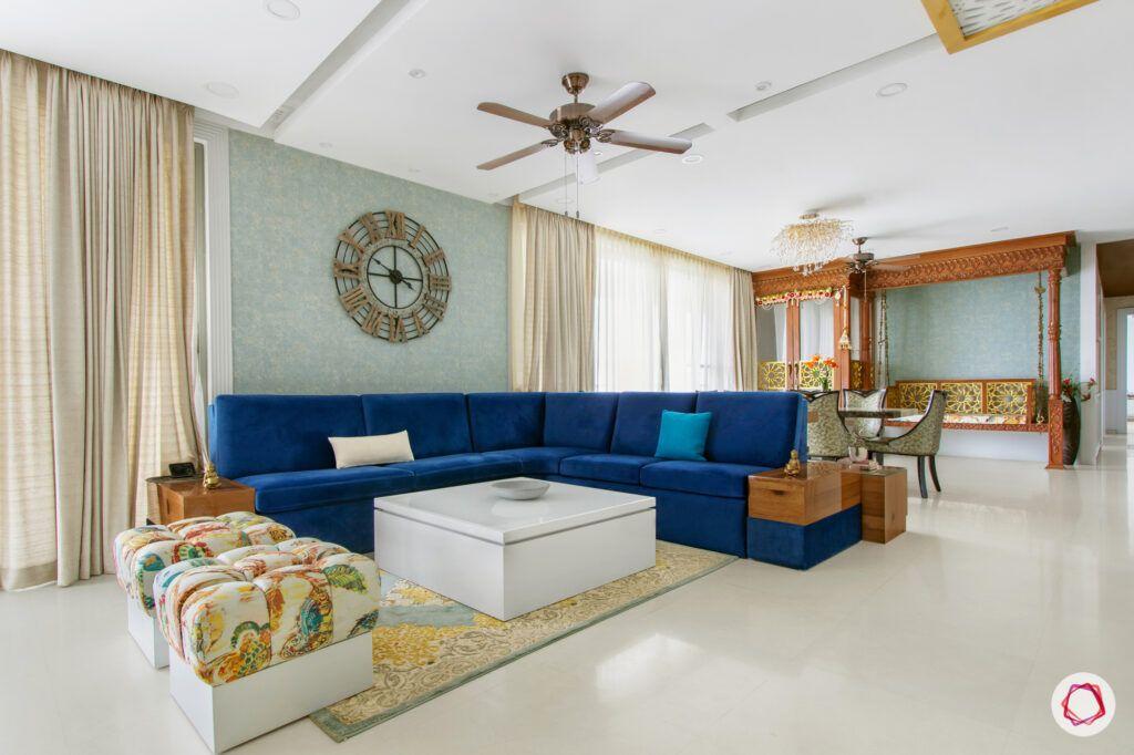 blue l-shaped sofa-swing designs