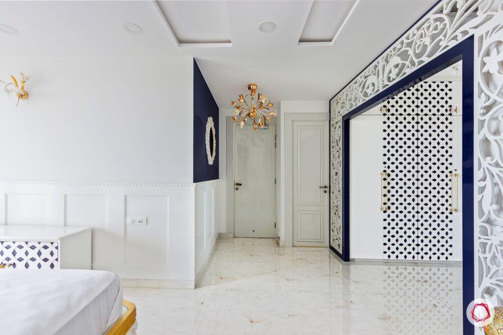 white jaali designs-chandelier designs