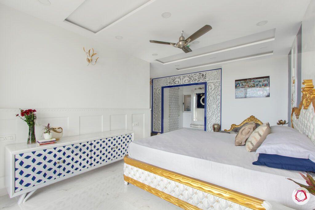 white jaali designs-white wall colour ideas