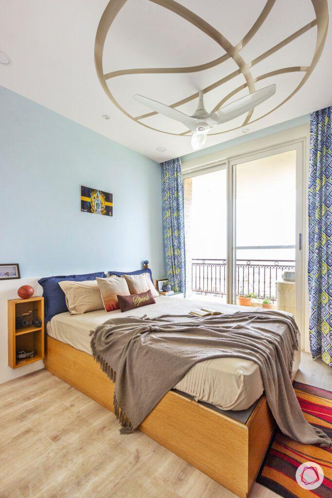 ound false ceiling designs-warm wooden flooring
