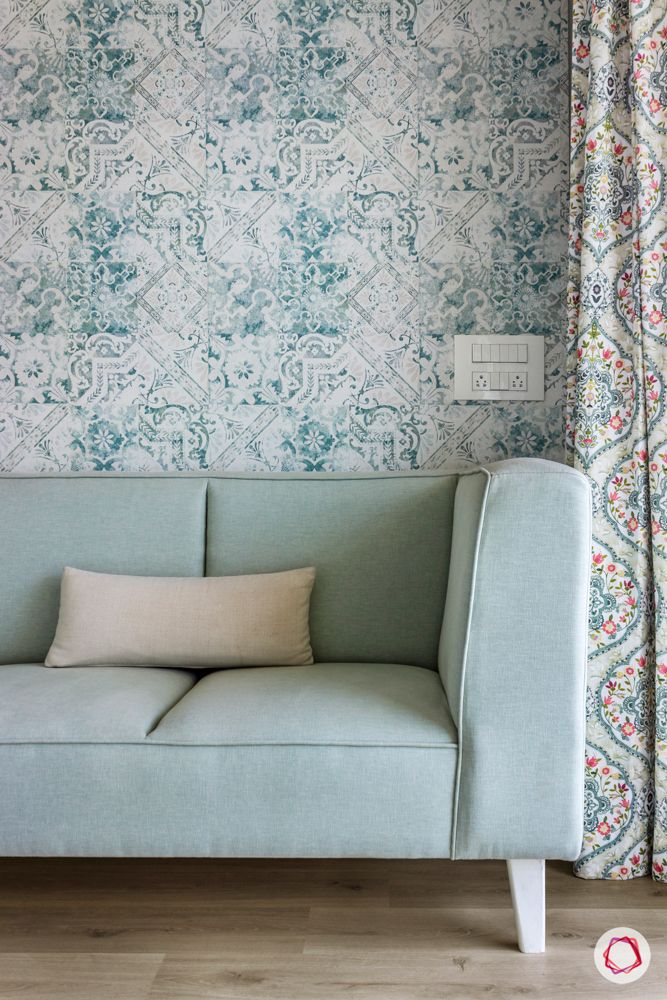 pastel blue couch designs-floral blue wallpaper