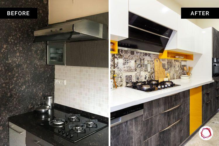 home renovation mumbai-hob and chimney-backsplas