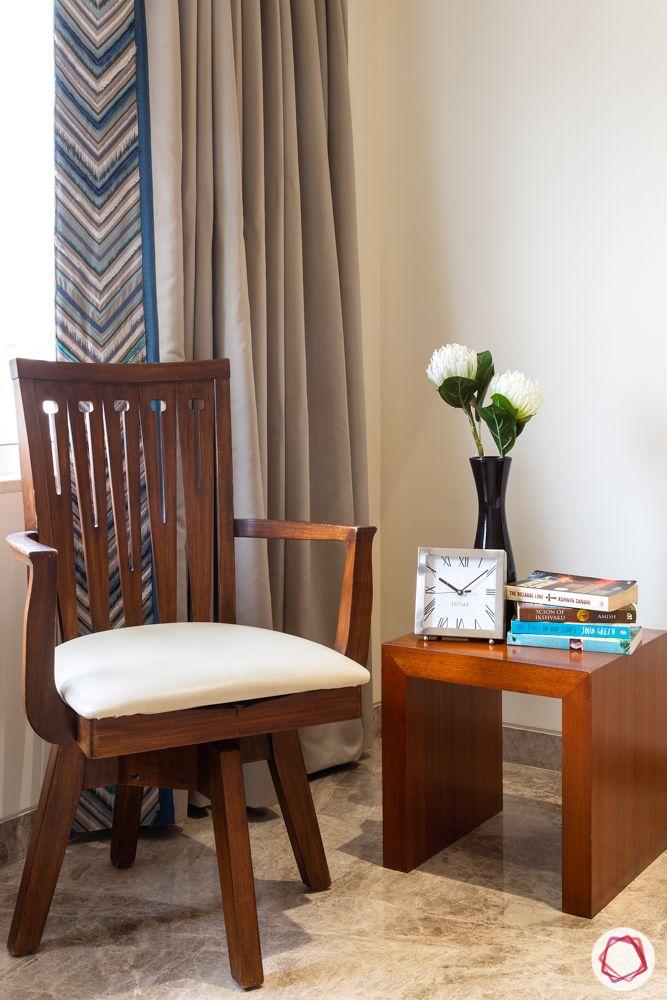 home renovation mumbai-wooden seating-reading corner-flower pot