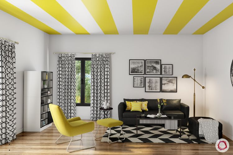 ceiling design for hall-painted ceiling