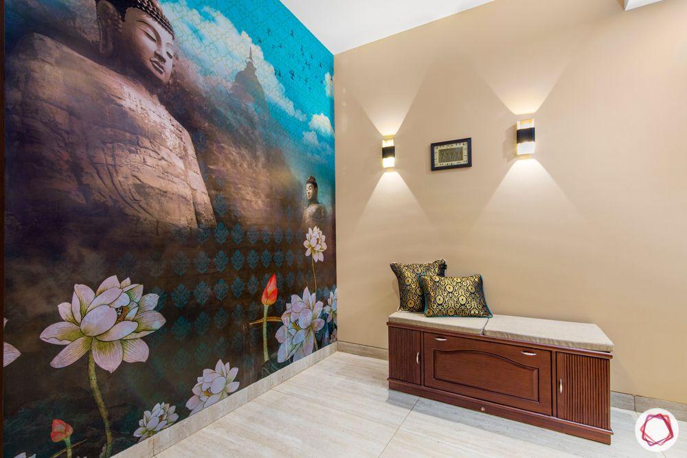 ardee city-entryway-buddha wallpaper-bench