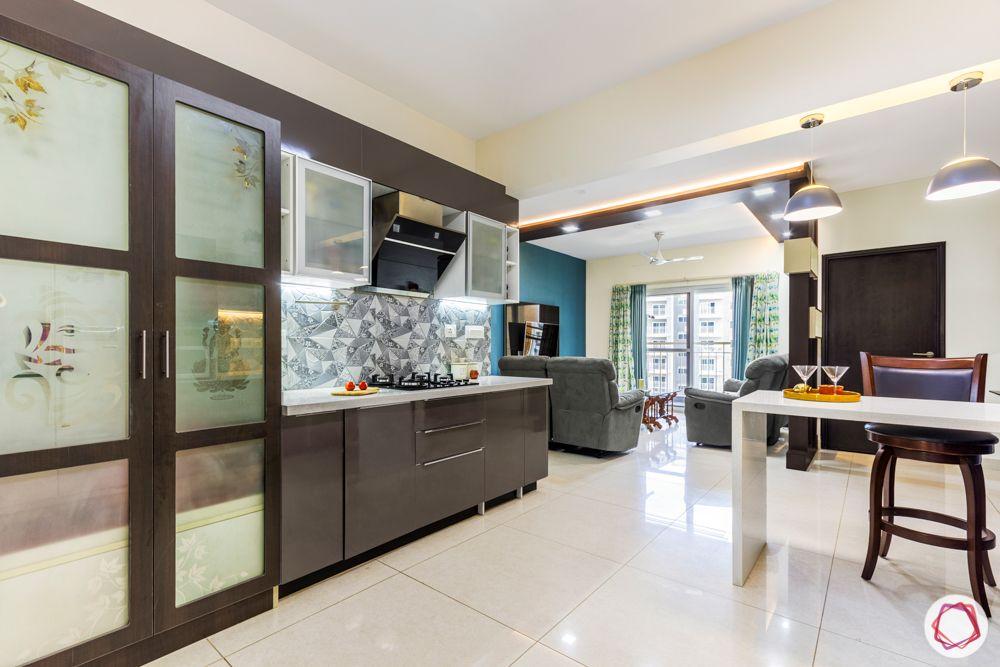 3-bhk-flat-interior-design-kitchen-pooja unit-etched glass door