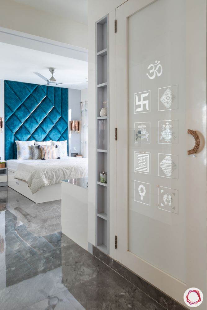 god room door design-glass panel door