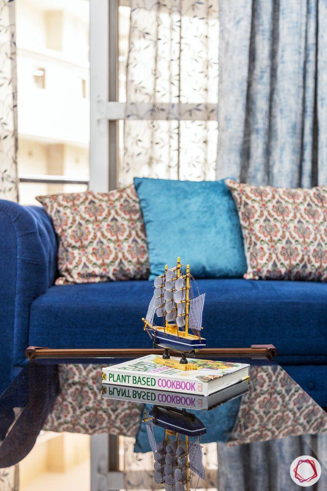 blue sofa design-velvet sofa design