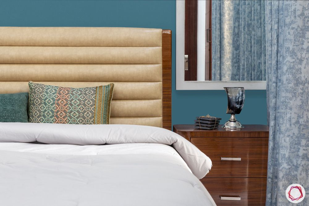 blue wallpaper design-headboard designs