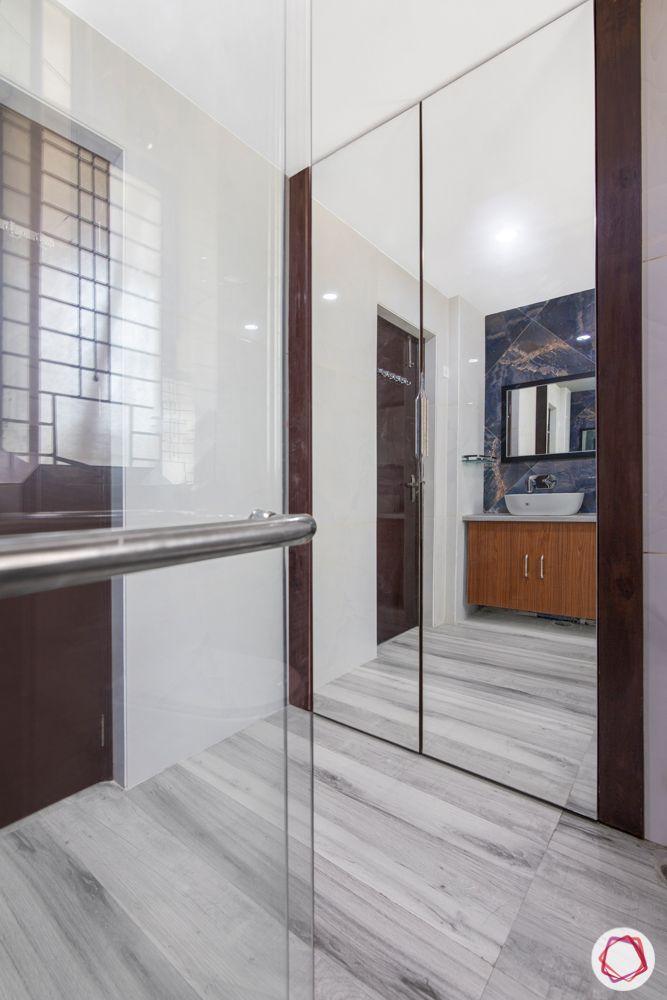 3bhk interior design-marble flooring designs