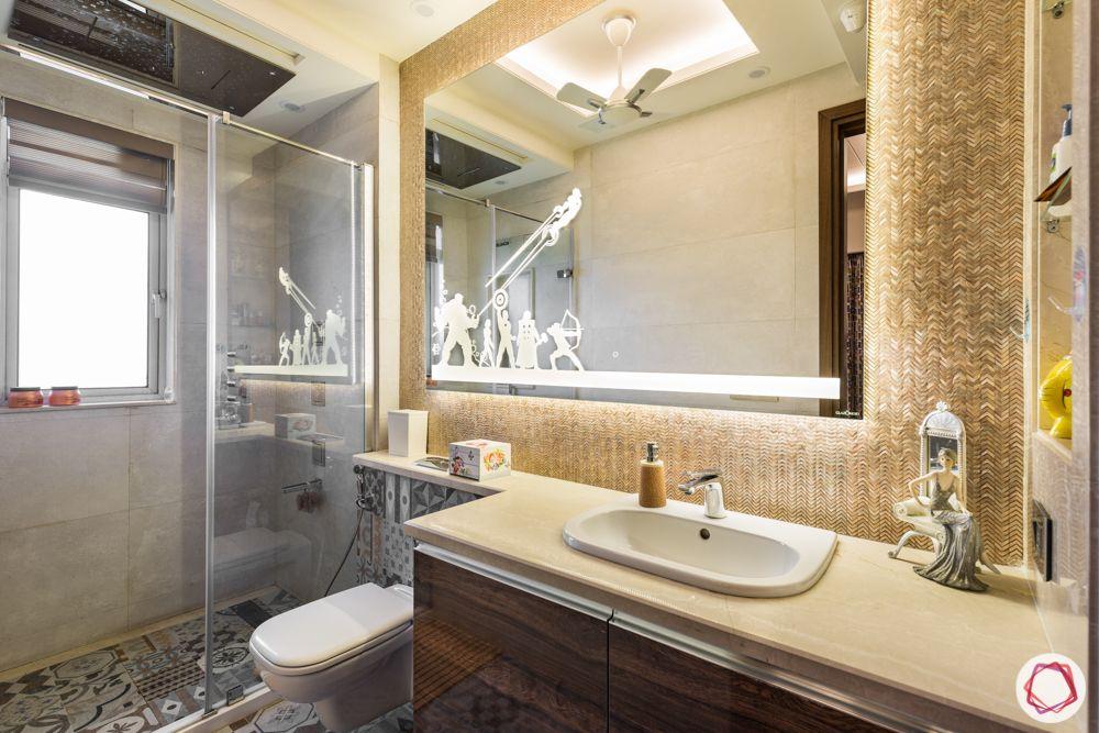 bathroom designs for small spaces-backlit-backlit mirror