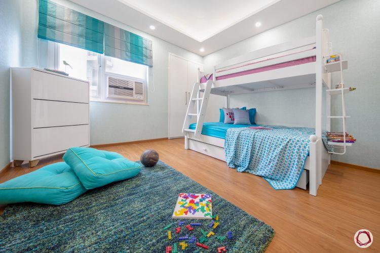 kids room seating ideas-blue rug designs-blue cushion designs