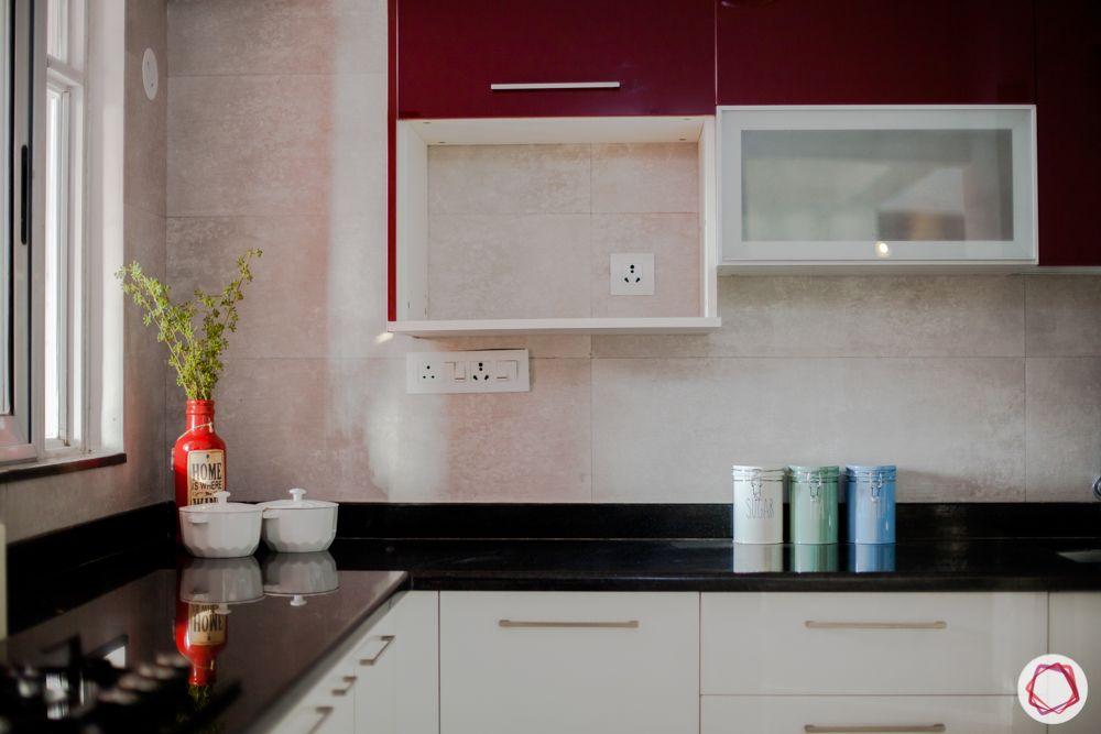 western hills baner-kitchen-granite countertop-acrylic finish-open shelves