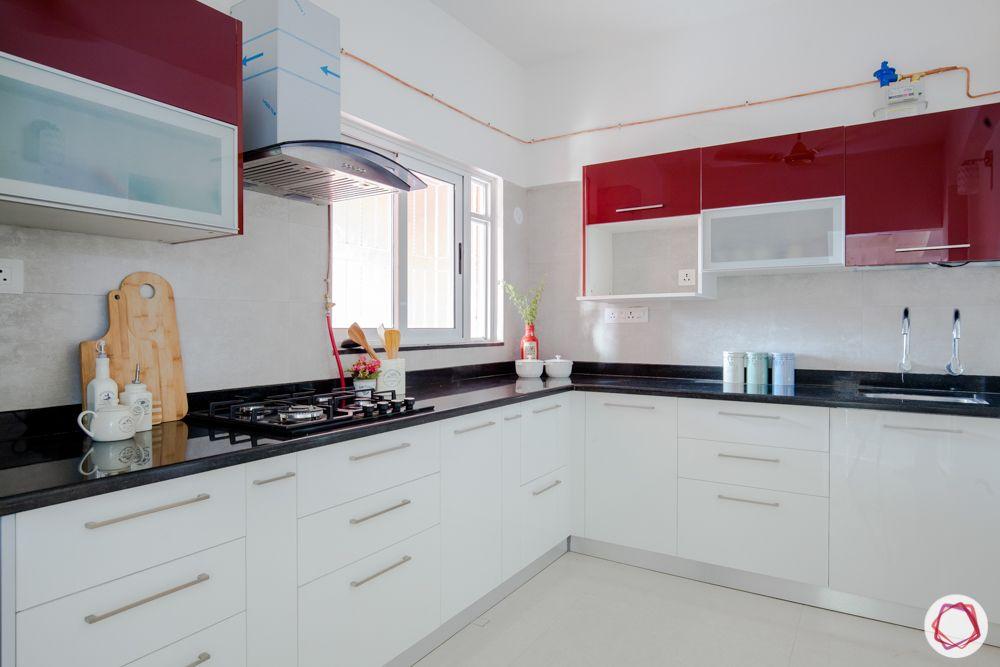 western hills baner-kitchen-chimney-granite countertop-acrylic finish