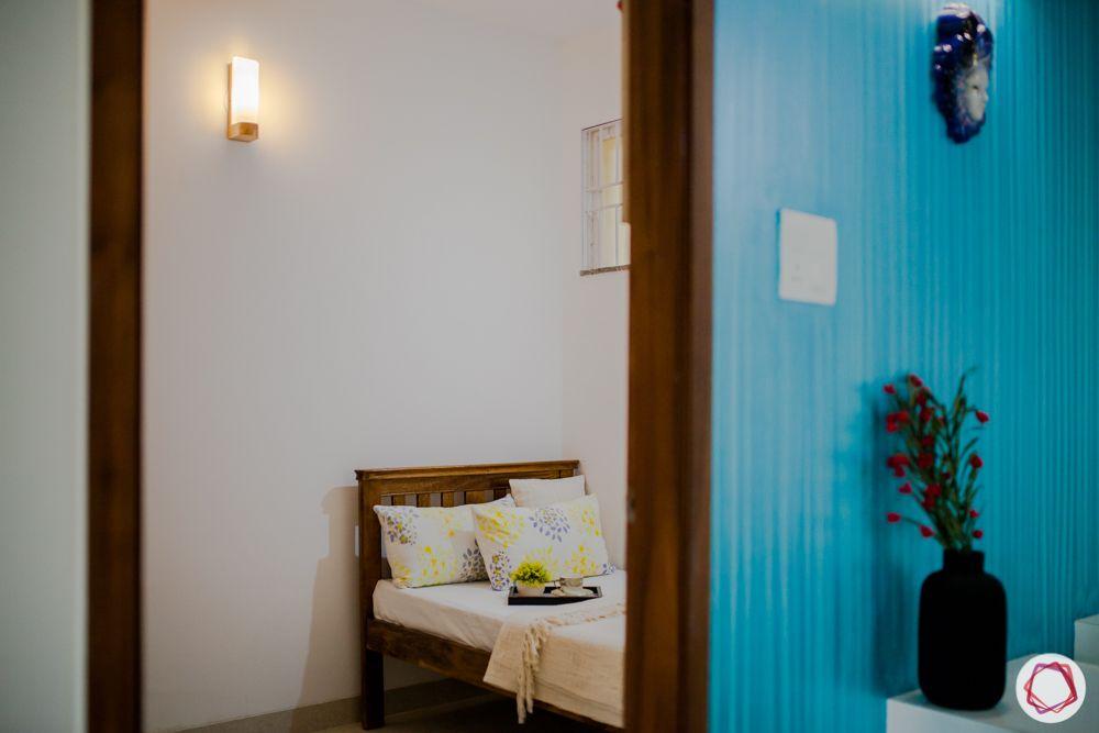 western hills baner-single bedroom-wooden bed-custom wardrobe