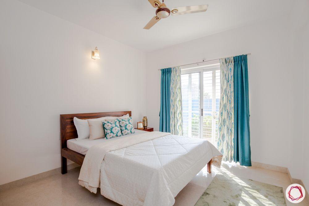 bedroom-wooden bed-window