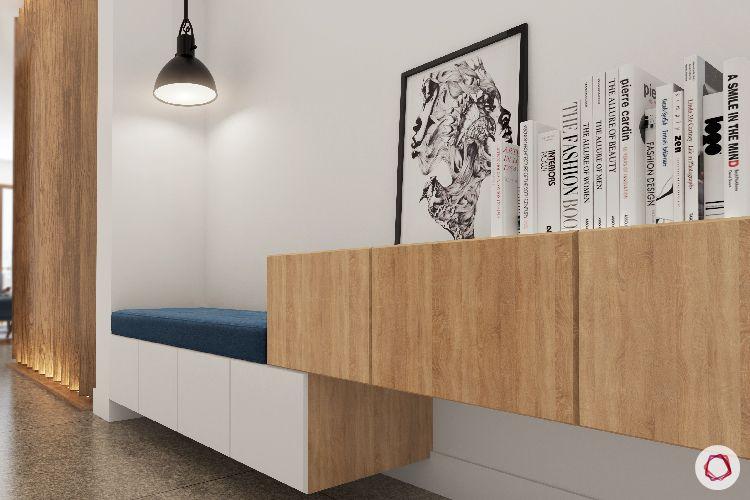 foyer seating-bench designs-storage for foyer