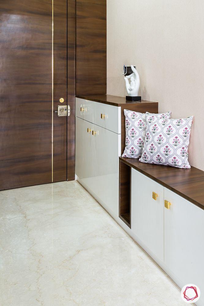 white shoe cabinet designs-seating ledge designs-foyer designs