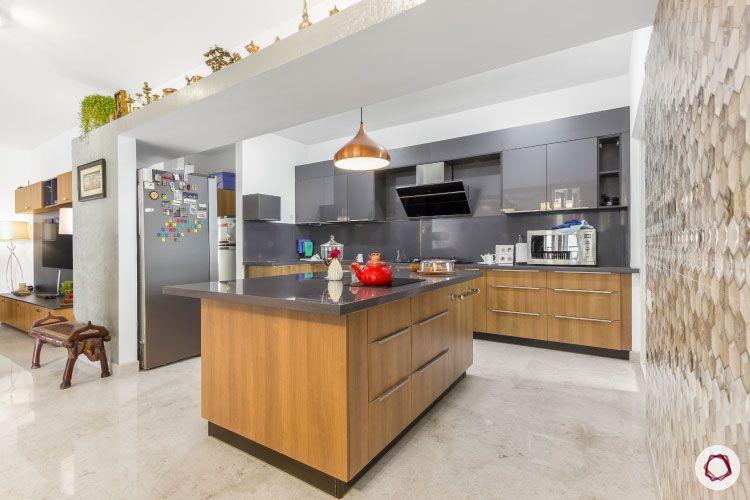 open kitchen indian-grey kitchen cabinets-kitchen island designs