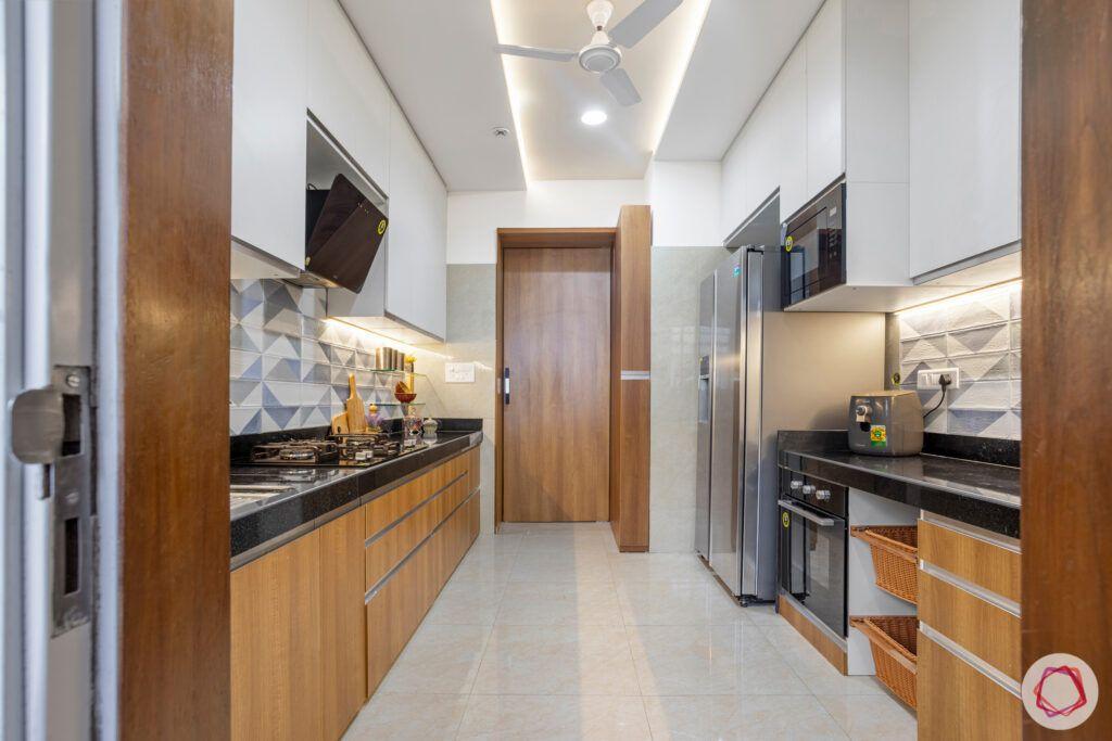 closed kitchen designs-brown kitchen designs