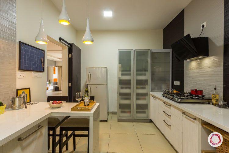 closed kitchen designs-white kitchens