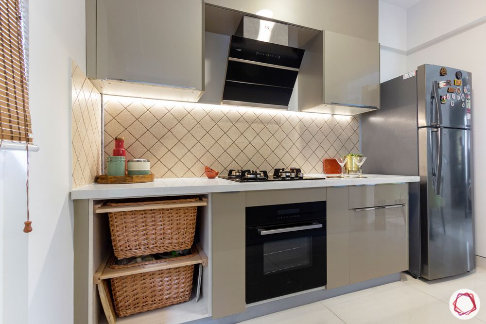 snn raj etternia-kitchen-beige cabinets-tiled backsplash-kitchen baskets-fridge