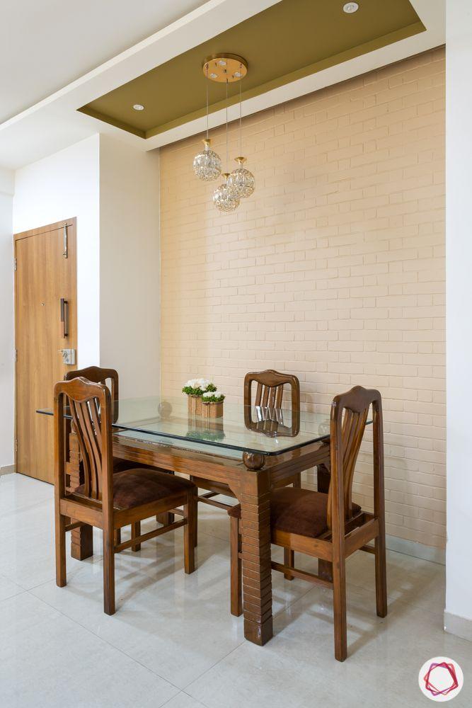 2bhk flat design-dining room-ceiling-pendant lights