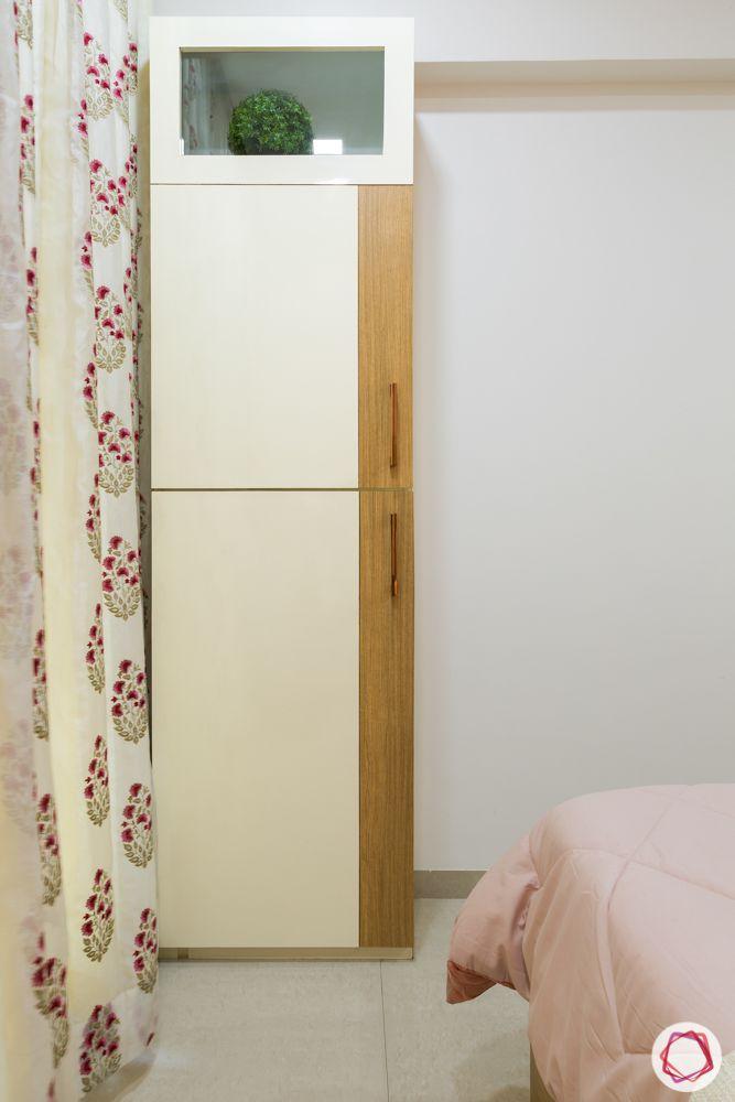 2bhk flat design-wardrobe-master bedroom