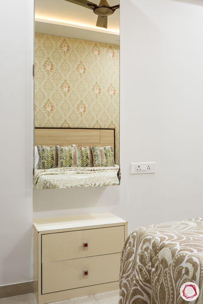 2bhk flat design-dresser-mirror unit