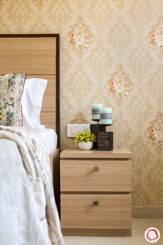 2bhk flat design-side table-wallpaper