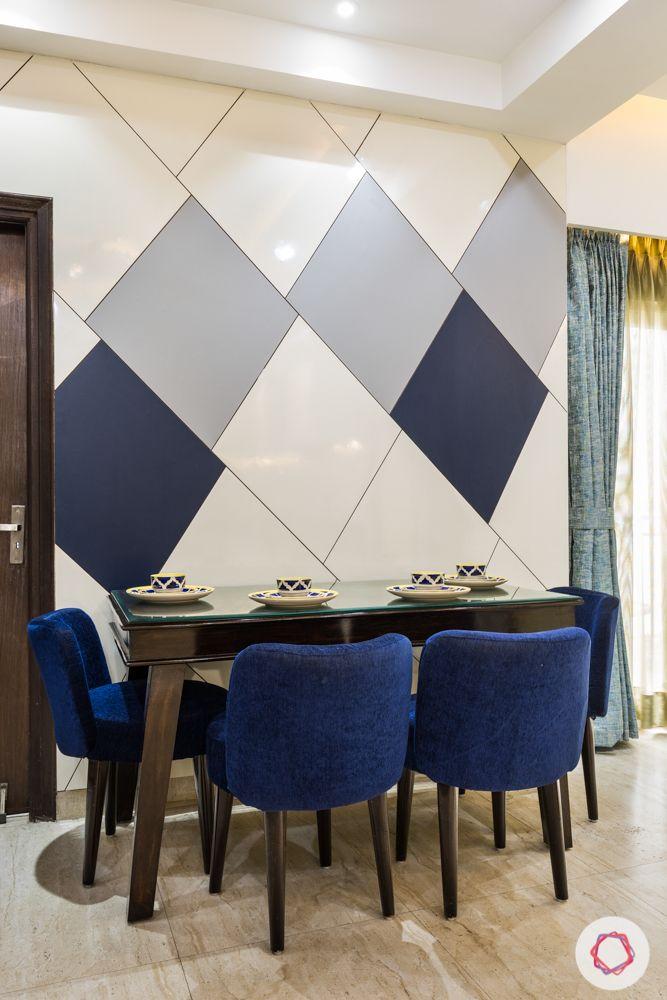 Panchsheel-Pratishtha-dining-wall-blue-white-grey