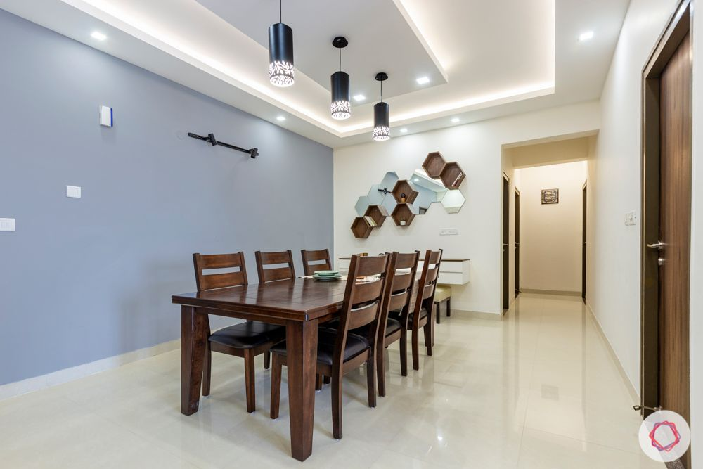 salarpuria aspire-grey wall paint ideas-wooden dining set ideas