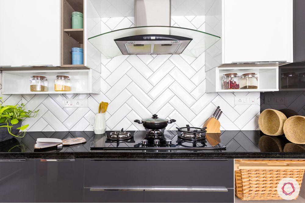 salarpuria aspire-grey kitchen designs-white kitchen backsplash