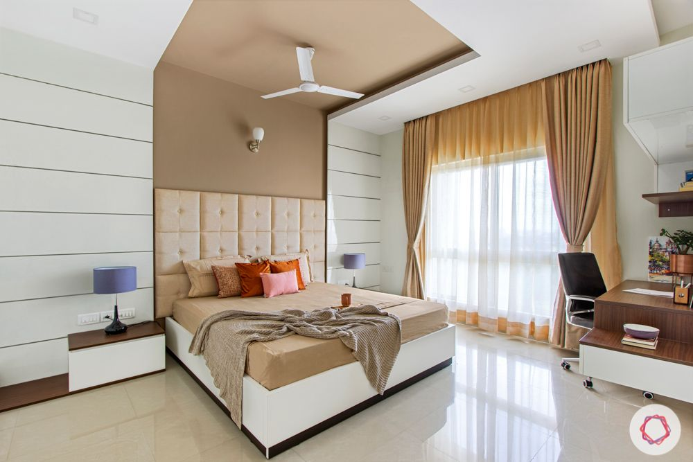 salarpuria aspire-beige wall colour-white laminate wall panel