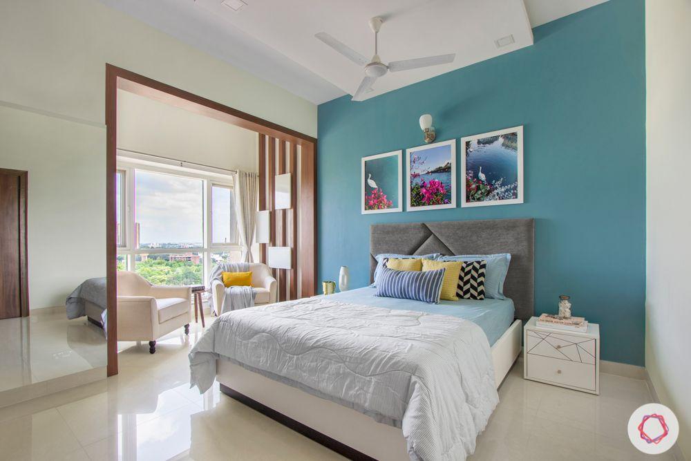 salarpuria aspire-blue accent wall designs-wooden wall panel