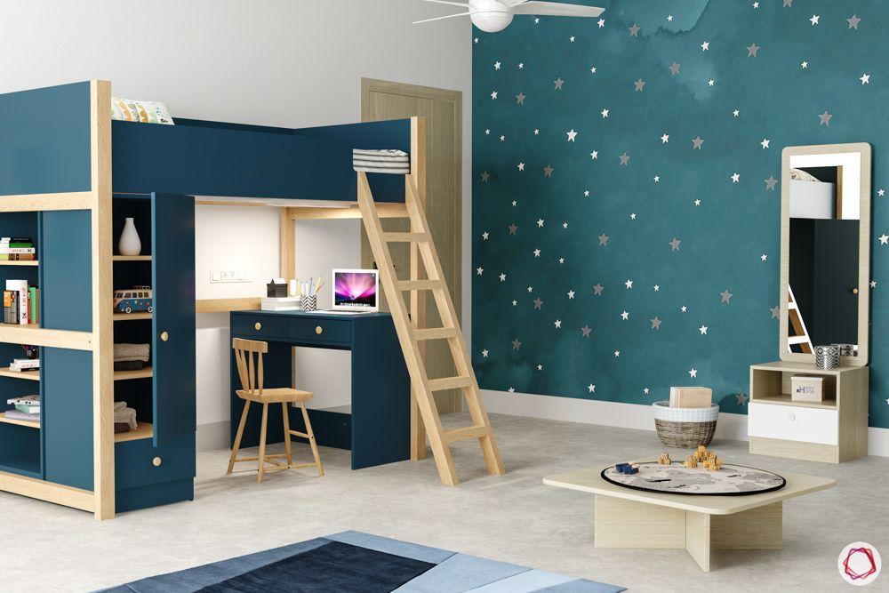 kids furniture-bed-study unit-vanity unit kids-ladder-bunk bed-shelves