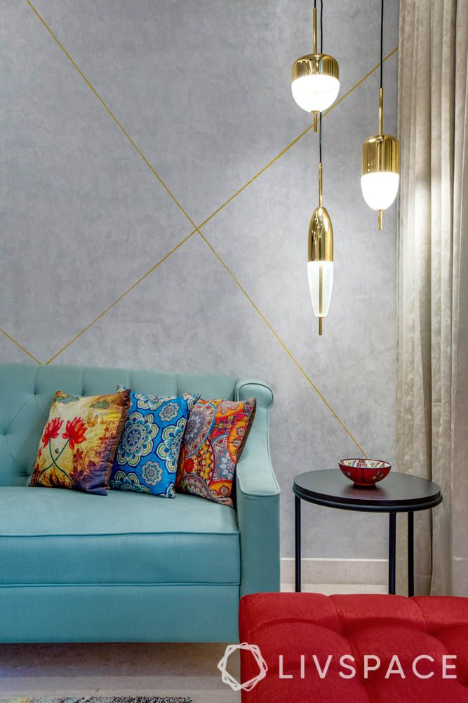 blue sofa designs-pendant lights for corner