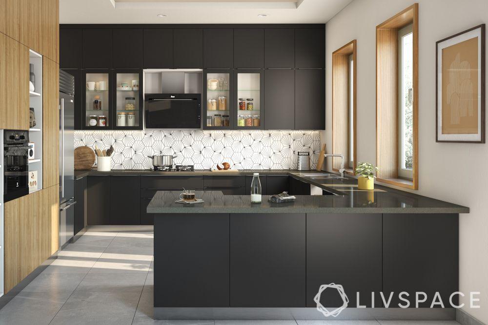 matte vs glossy-matte kitchen