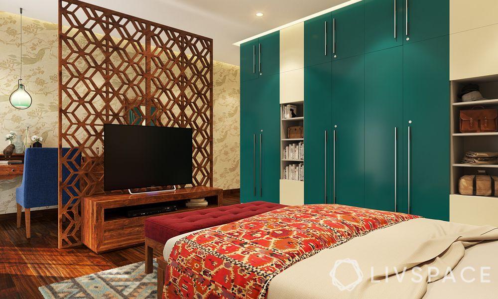 wardrobe-designs-green-sliding-door