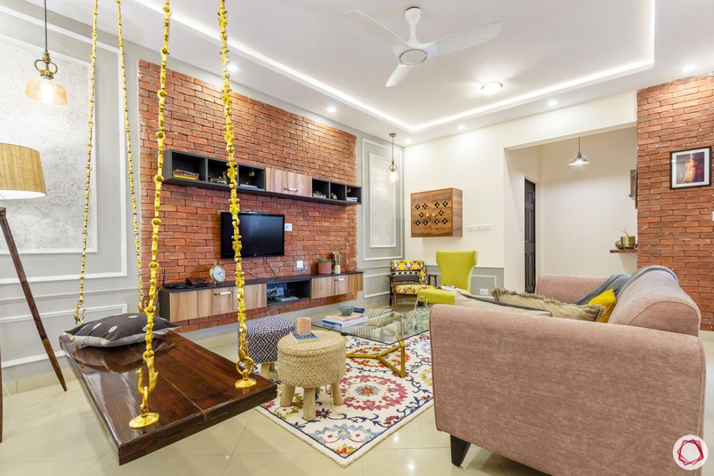 sobha-aspire-living-room-wooden-pooja-unit-ottomans