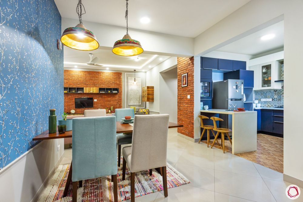 sobha-aspire-dining-room-upholstered-chairs-blue-wall