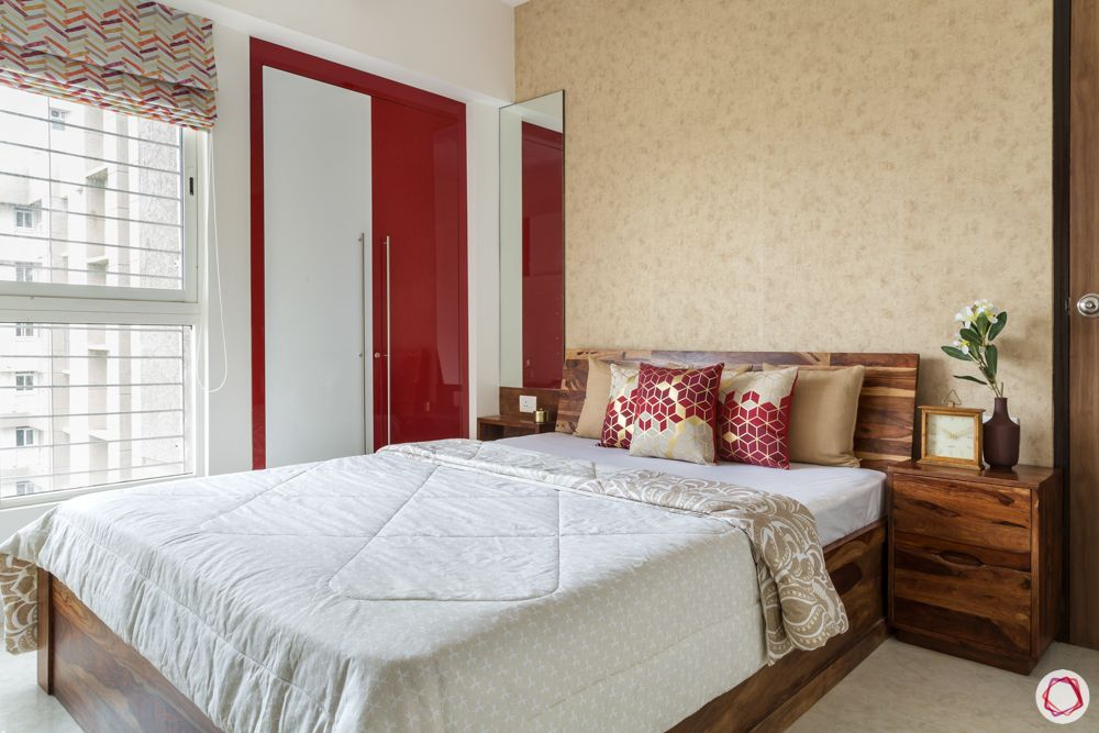 lodha amara thane-red wardrobe designs-wooden bed designs