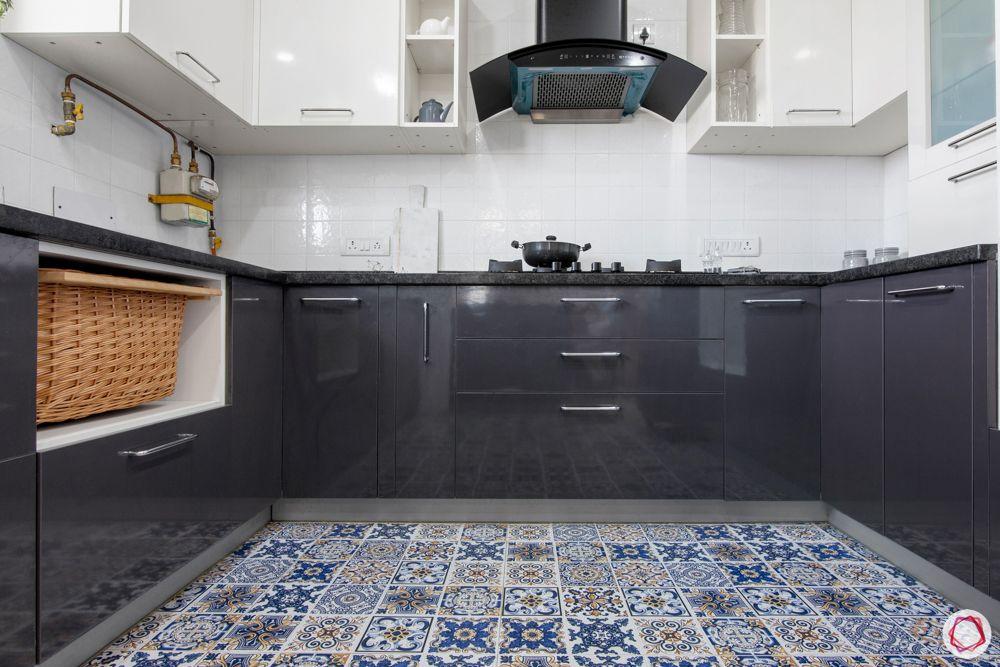 modular kitchen materials-moroccan tile flooring