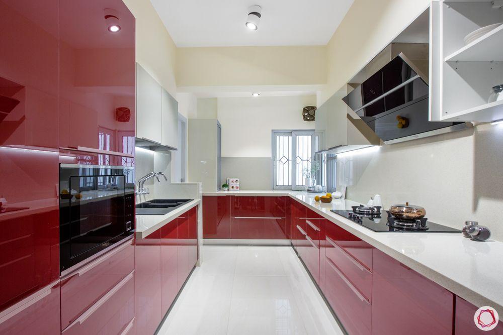 modular kitchen materials-acrylic finish